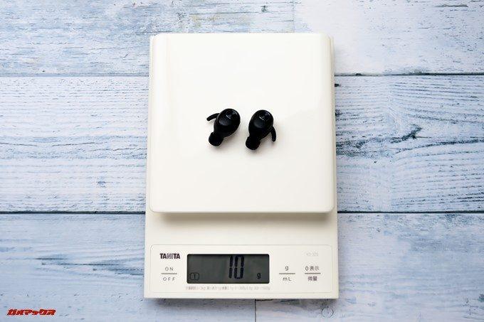 ZNT AirFits Iの重量は片方で約5gです。