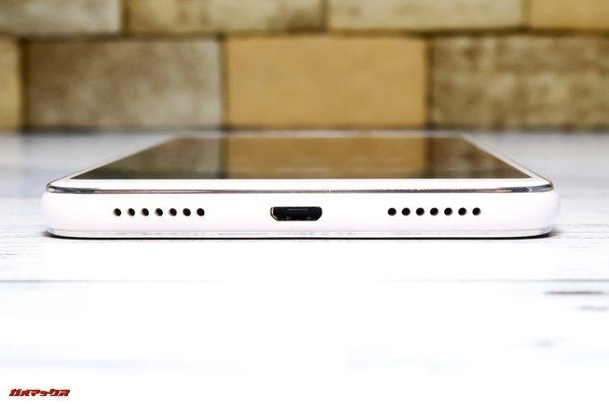 ZenFone 5Q/lite/Selfie(ZC600KL)の充電端子はMicroUSB端子を採用しています。