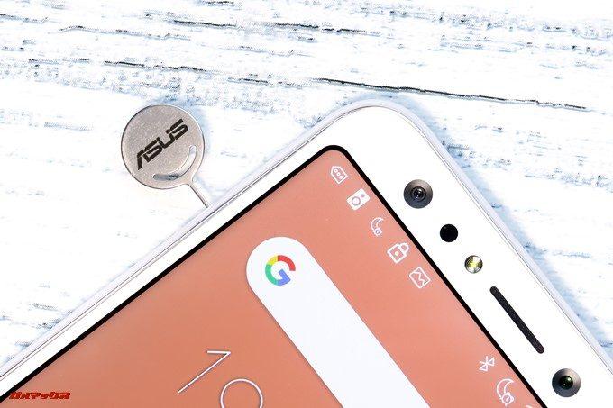 ZenFone 5Q/lite/Selfie(ZC600KL)のSIMトレイはSIMピンで取り外すタイプです。
