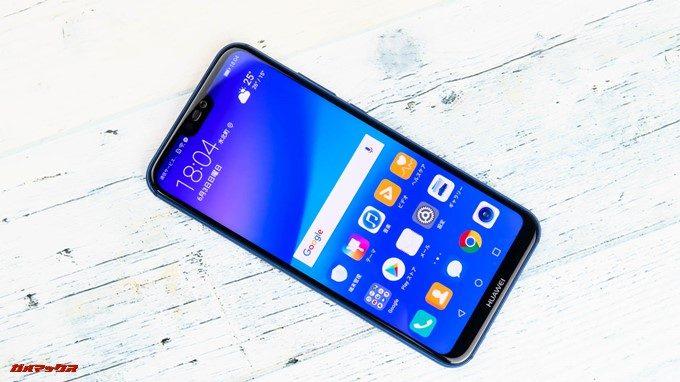 Huawei P20 liteは流行りの切り欠けディスプレイを搭載しています。