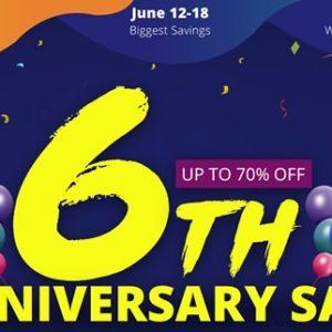 祝!Geekbuyingが6周年を祝うセールを開催!11日までは予熱セールで特別なクーポンも配布中!