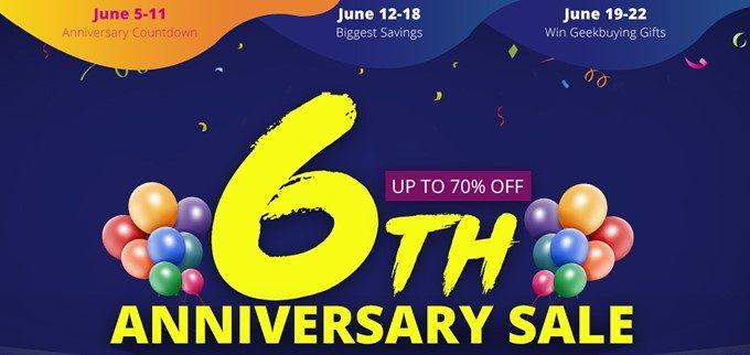 Geekbuying6周年記念セール!