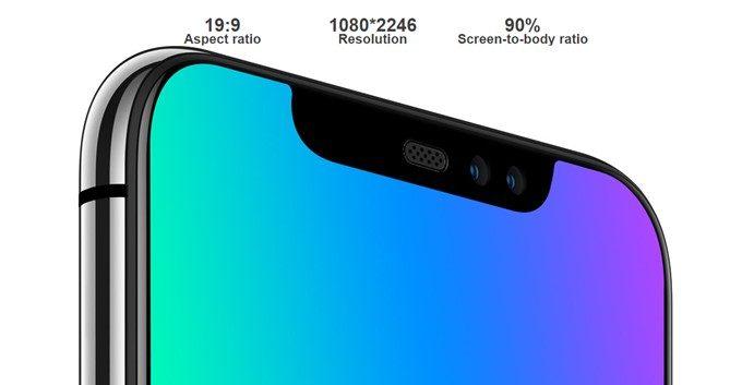 UMIDIGI Z2は6.2型の大画面を搭載。縦長ディスプレイで持ちやすいです。
