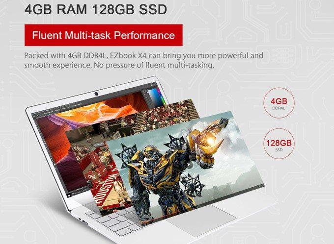 Jumper EZ BOOK X4はSSDを搭載しているので体感速度が非常に早くなります。