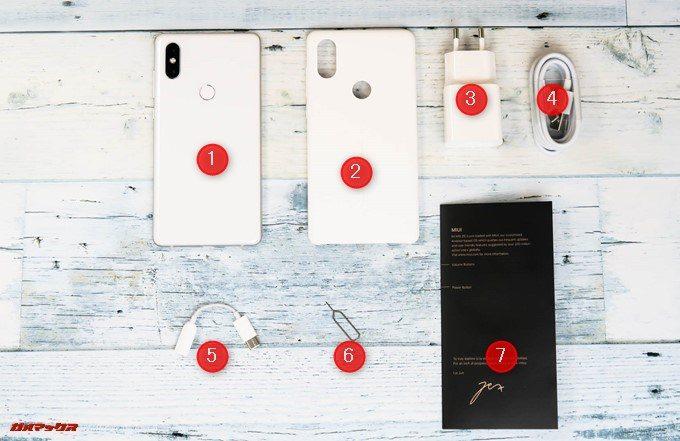 Xiaomi Mi Mix 2Sの付属品一覧