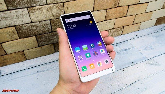 Xiaomi Mi Mix 2Sは頂戴画面ですが、縦長ディスプレイを搭載しているので持ちやすいです。