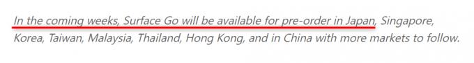 Surface Goは日本でも発売確定!