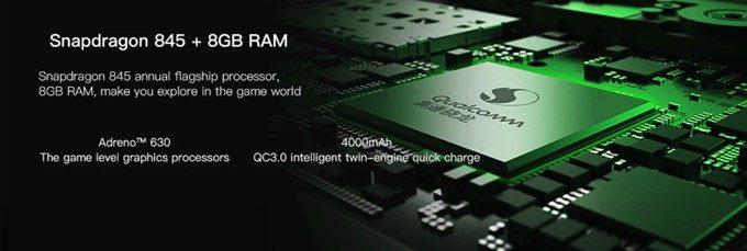 Black Shark国際版は現時点で最高性能のSnapdragon 845を搭載