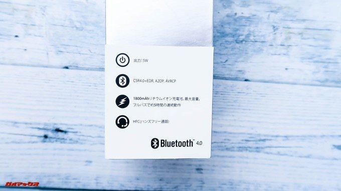 Bubble Podsは帯部分に簡単な仕様が記載されているので手にとってパッケージを確認するときにもわかりやすい