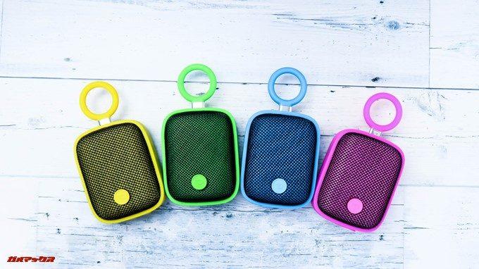 Bubble Podsはビビットなイエロー、グリーン、ブルー、ピンクの4色から選択可能です。