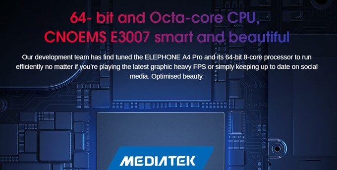 Elephone A4 ProはMediaTek P23を搭載