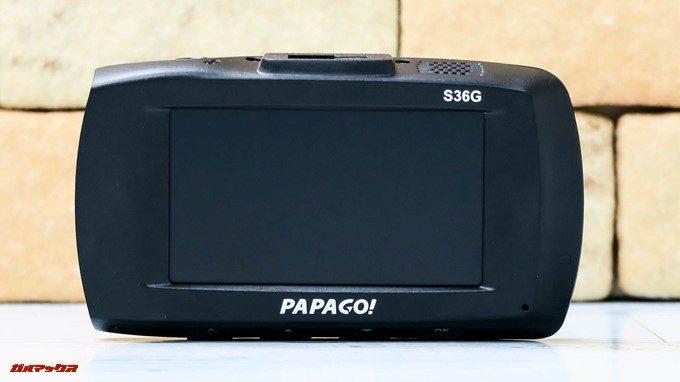 GoSafe S36G1には大型のディスプレイを搭載