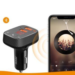 スマホの音楽をカーオーディオにワイヤレスで飛ばせる「Anker Roav FM Transmitter F2」Bluetooth FMトランスミッター