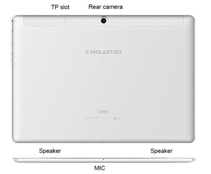Teclast A10Hはステレオスピーカー仕様で保存容量が拡張出来るMicroSDスロットを搭載しています。