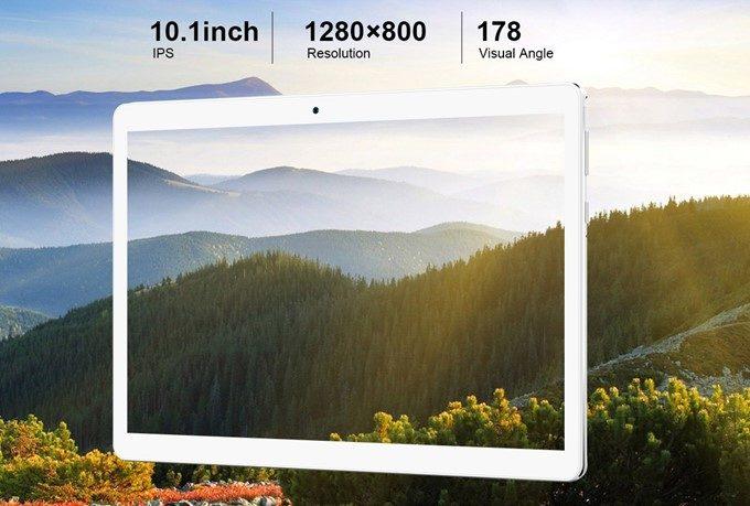 Teclast A10Hは斜めから見ても変色の少ないIPSディスプレイを搭載しており、HD解像度パネルが採用されています。