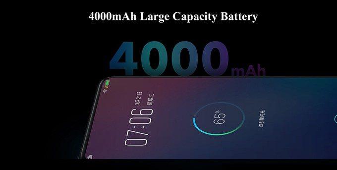 Vivo NEXは4000mAhのバッテリーを搭載