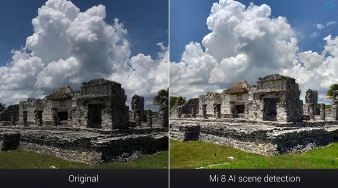 Xiaomi Mi 8のAIが曇り空と認識。ふわっと明るくなり、メリハリある写真に仕上がりました。
