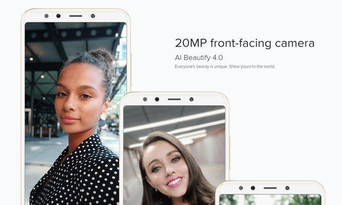 Xiaomi Mi A2はインカメラも2000万画素を搭載