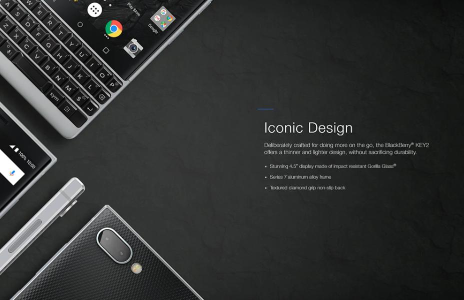 BlackBerry KEY2は持つだけでワクワク出来るデザインが特徴