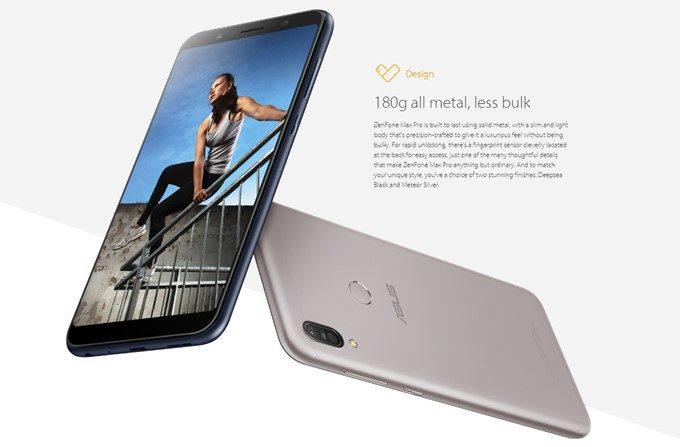 ASUS Zenfone Max Pro (M1)は重量180gで案外Compactです。