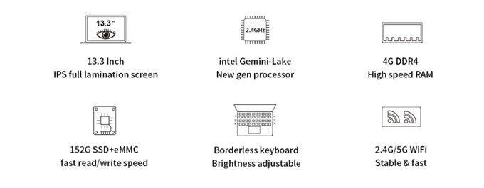 CHUWI LapBookは安価で高性能な仕様となっています。