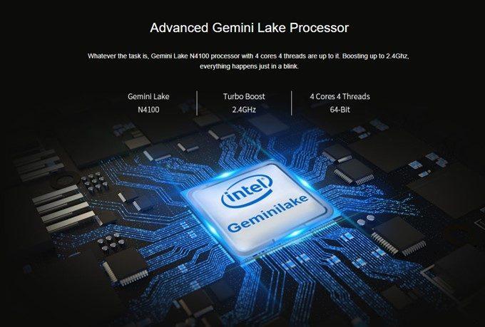 CHUWI LapBookはN4100のパワフルなCPUを搭載。ライトユーザーなら全く問題ない性能です。