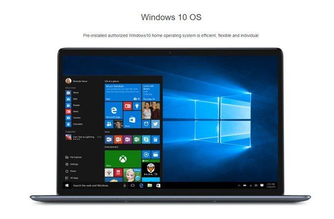 CHUWI LapBookに搭載されるOSはWindows10でマルチランゲージタイプなので日本語に対応しています。