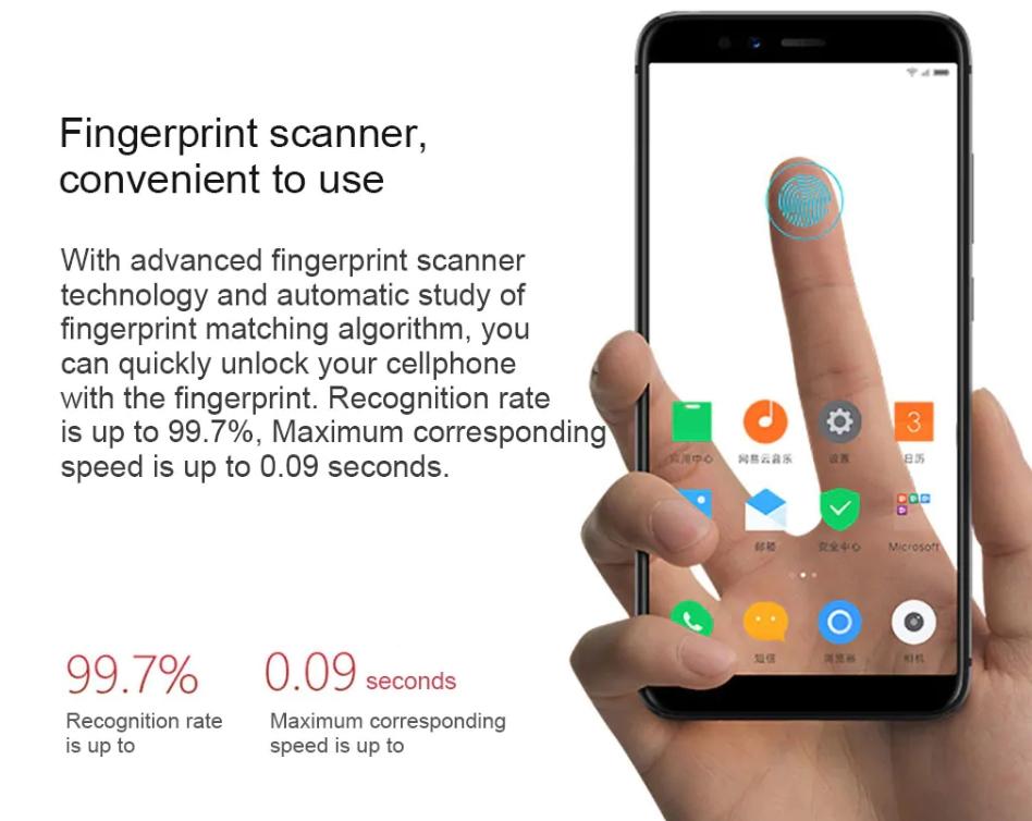 Lenovo S5の指紋認証機能は超高性能。0.09秒でロック解除出来るほか、独自のアルゴリズムで自動学習を行い失敗率が非常に低いです。