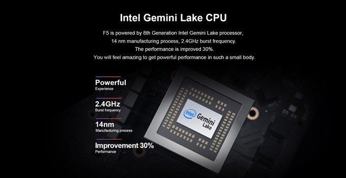 Teclast F5はパワフルなN4100を搭載。ライトユーザーなら十分な性能です。