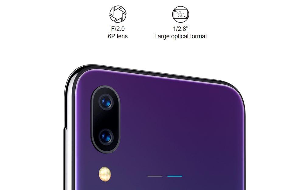 [UMIDIGI One]と[UMIDIGI One Pro]は1200万画素+500万画素のカメラを搭載しています。