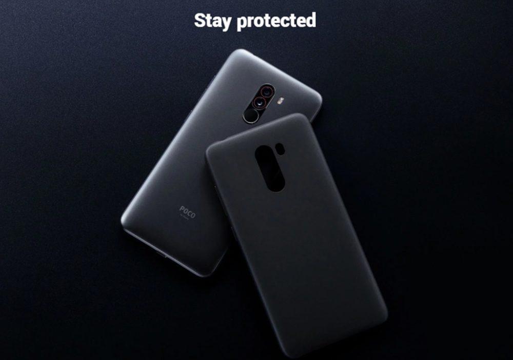 Xiaomi Poco F1は保護ケースが付属しています。