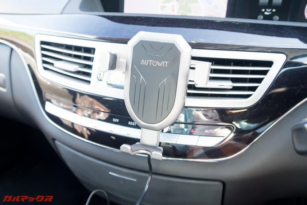 Autowit C3の固定具をフィンに挿し込むと装着完了!