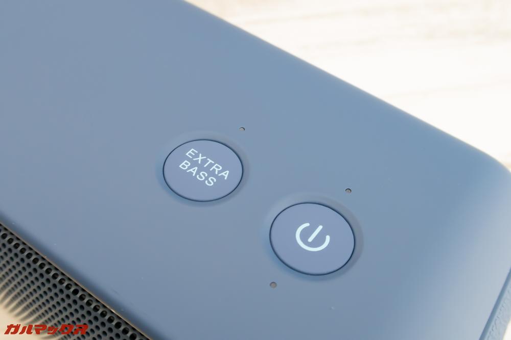 DOSS SoundBox Proのボタンはクリック感のある押し心地