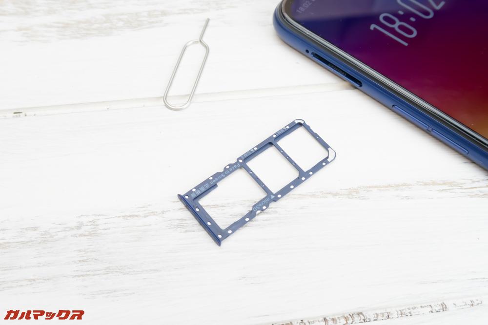 OPPO R15 NeoのSIMトレイはSIMピンで開くタイプ