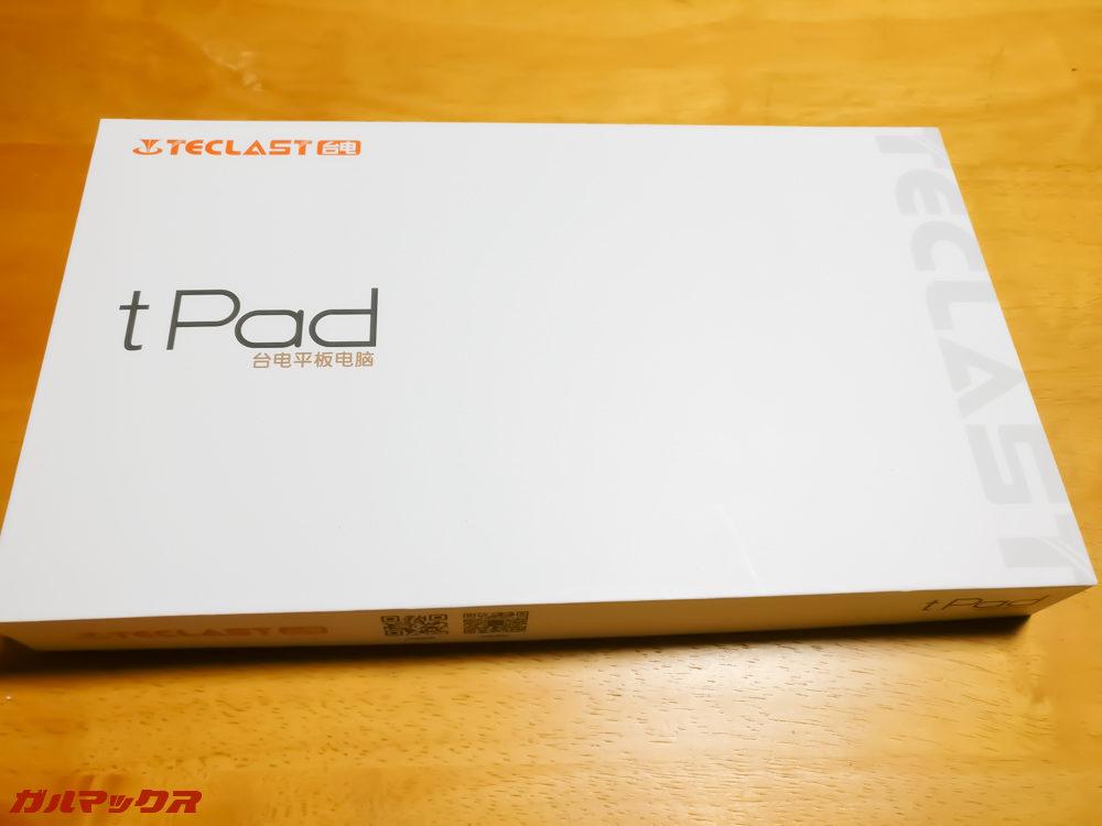 Teclast A10Sの外箱には大きく「tPad」の文字が書いてあります