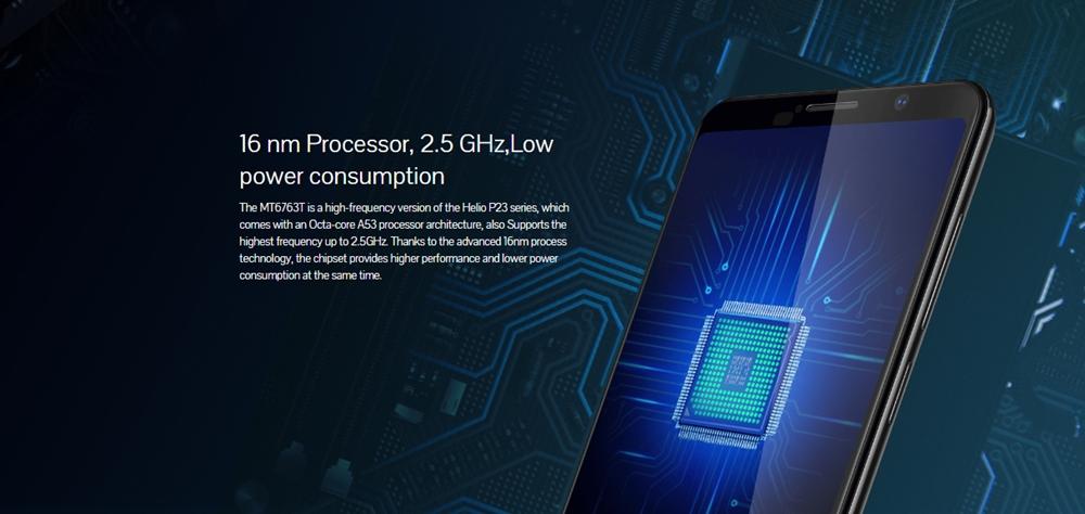 CUBOT POWERのP23は周波数の高い2.5GHz版を採用している。