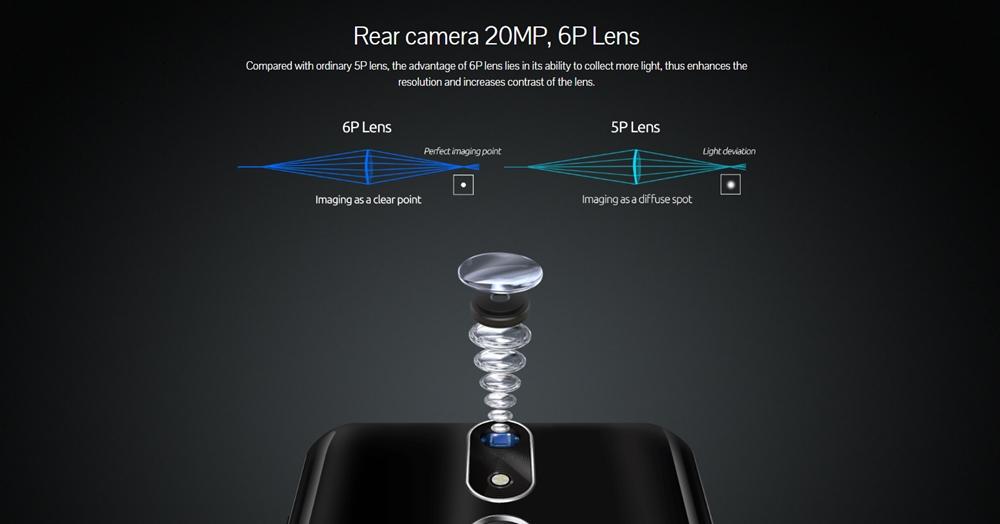 CUBOT POWERは20MPのシングルカメラを搭載