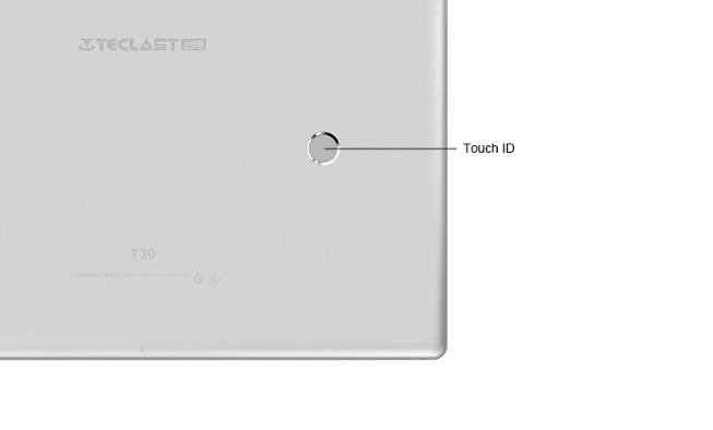 Teclast T20は指紋認証を搭載