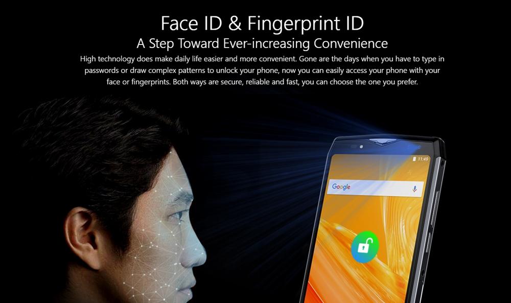 Ulefone Power 5は顔認証に対応しています。
