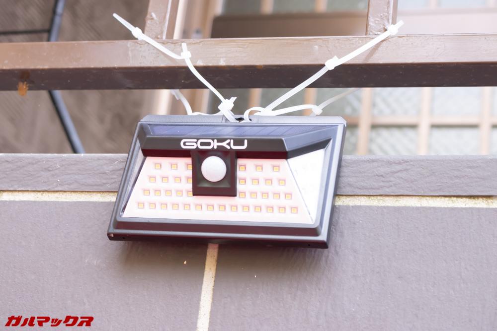 GOKU 48 LEDは電源不要でコンパクトなので取り付けの自由度が高いです