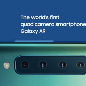 Samsungが4カメラ搭載スマホ「Galaxy A9」を発表!