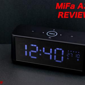 寝室用に最適。時計・アラーム搭載Bluetoothスピーカー[MiFa A30]レビュー