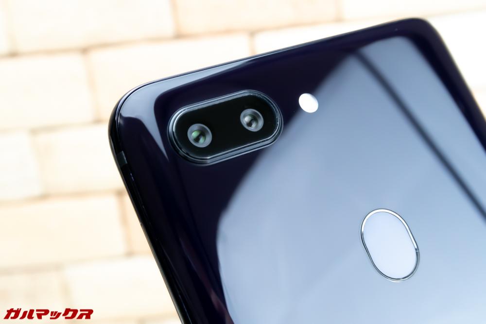 OPPO R15 Proの背面にはAIデュアルカメラが搭載されています。
