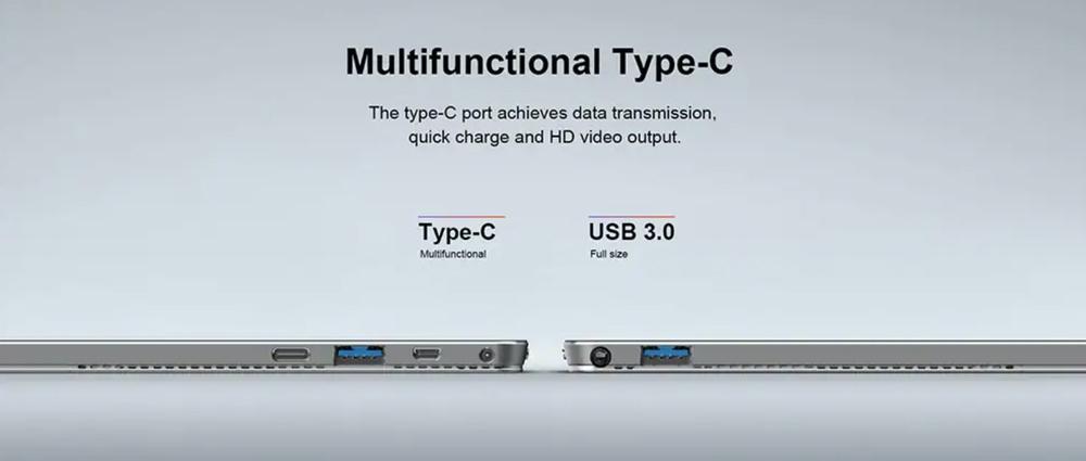 Teclast X6 Proはモバイルバッテリーでも充電可能なUSB-C端子を搭載!