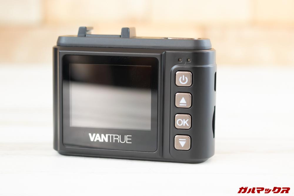 VANTRUE N1 Proは小型ですがディスプレイを搭載。