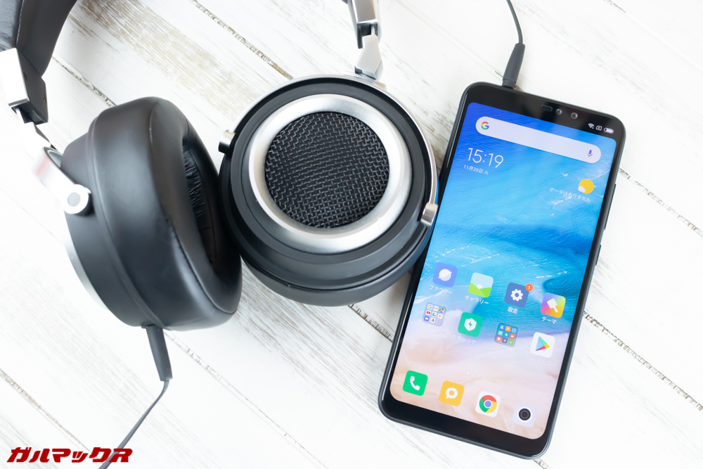 Xiaomi Redmi Note 6 Proはイヤホンジャックを搭載しているのでお気に入りの有線イヤホンやヘッドホンを利用できます。