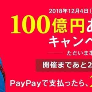 12月4日から開始!スマホ決済「PayPay」で20%還元キャンペーンがスタート!