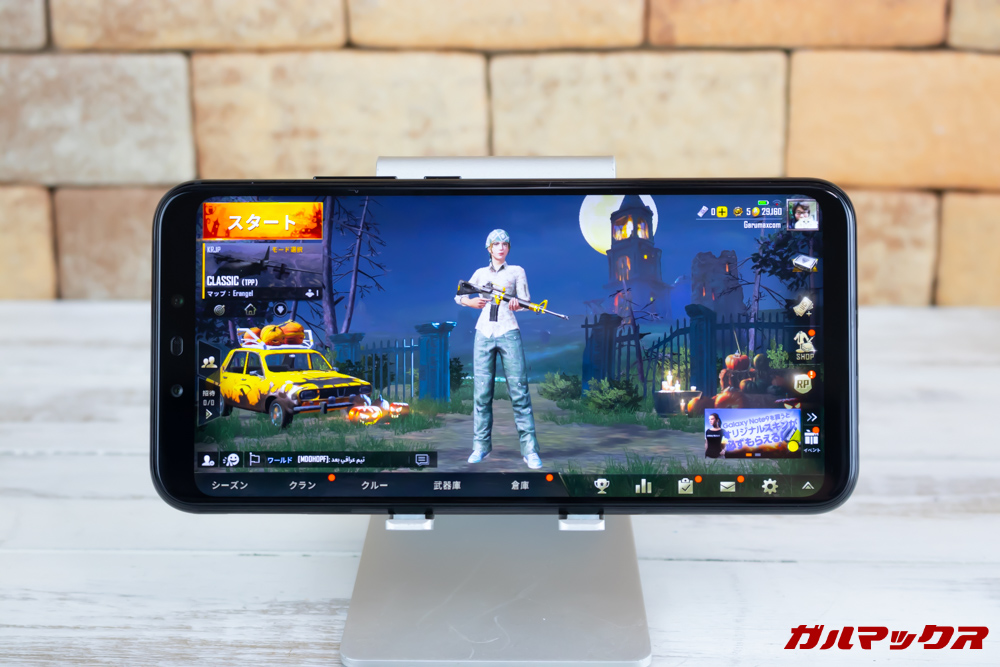Huawei Mate 20 liteはノッチの無い表示モードで全画面をオフにすると中央表示となりました。