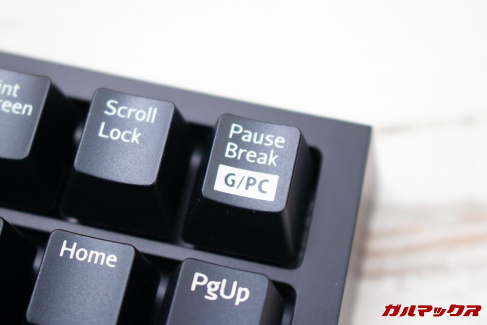 オウルテックの青軸メカニカルキーボード(OWL-KB92BLJP)のキーはGモードでWindowsボタンの操作を無効化出来る。