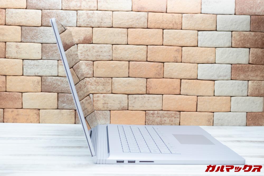 Surface Book 2はノートパソコンスタイルで利用できます。